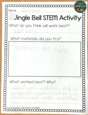 jingle bell STEM page