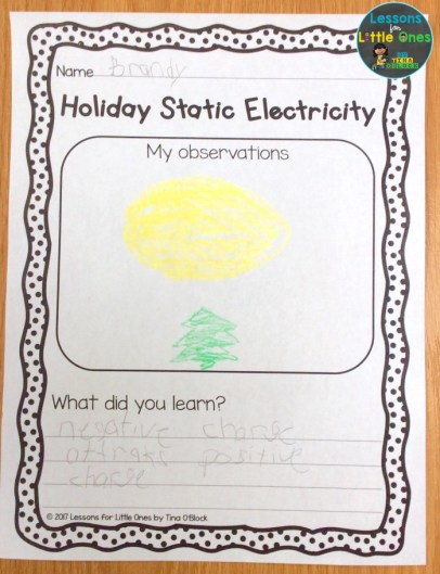 Christmas static electricity page