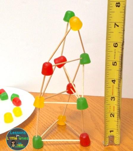gum drop challenge tower measurement