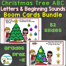 Christmas Tree Letters Beginning Sounds Bundle