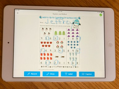 winter counting practice Seesaw app