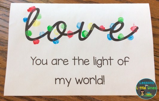 Christmas lights card for parents