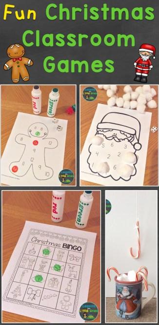 Christmas classroom games