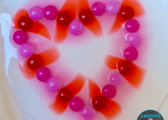 valentine science with candy