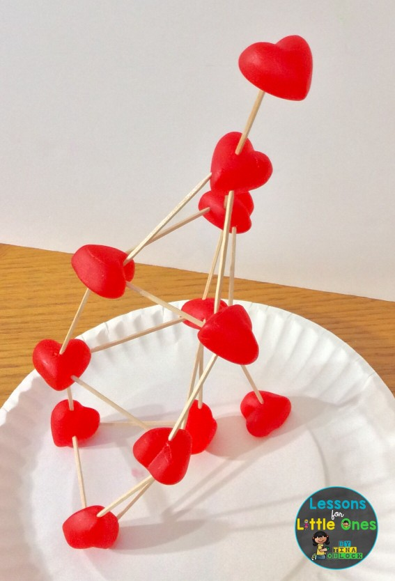 candy heart STEM challenge