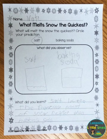 melting snow experiment page
