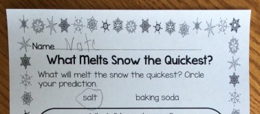 snow melting experiment page