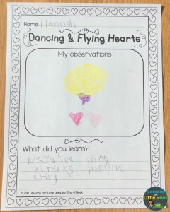valentine hearts science static electricity