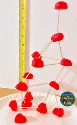 valentine candy heart STEM challenge