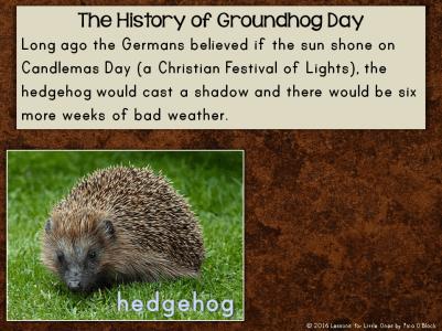 history of groundhog day