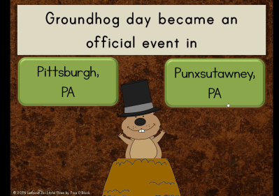 groundhog day quiz