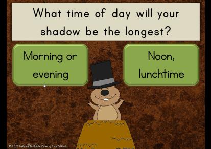groundhog shadow quiz