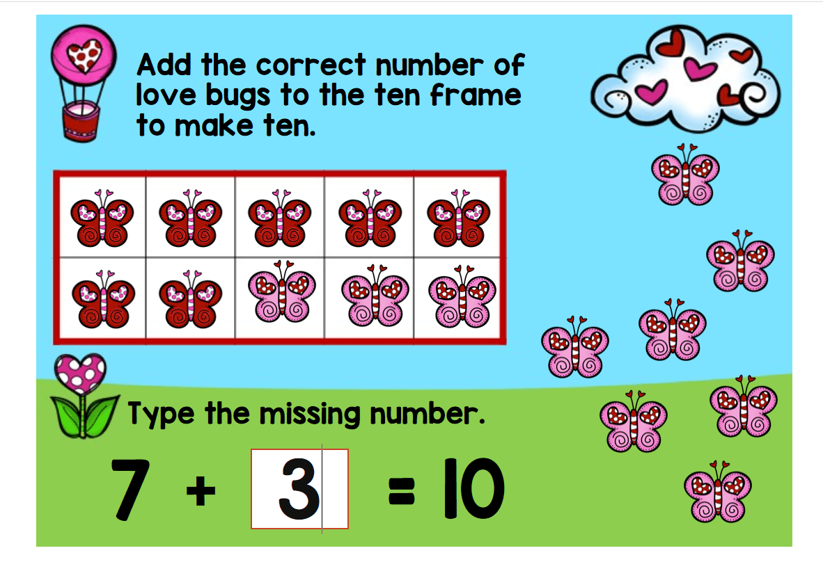 valentine making 10 digital math center - Lessons for Little Ones by ...