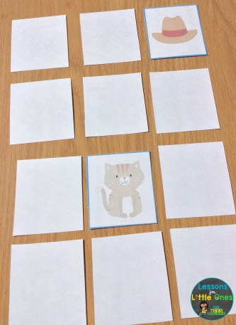 rhyming word concentration / memory game