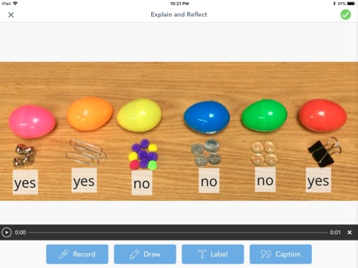 Easter egg magnetism science experiment Seesaw app