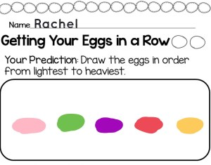 Easter egg science experiment weight and mass page Pic Collage