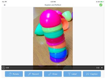 egg stacking STEM Seesaw app