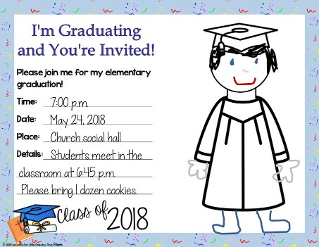 editable religious graduation invitation