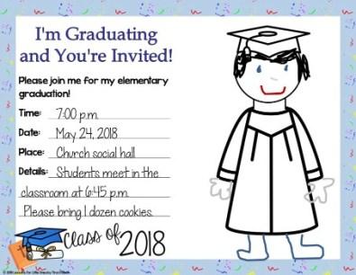 editable religious graduation invitation
