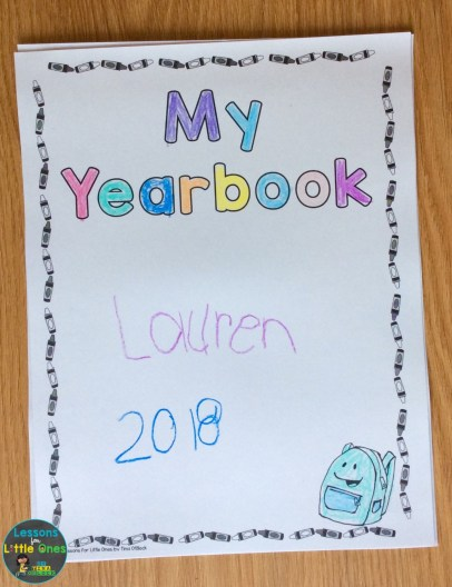 end of the year student yearbook