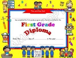 first grade diploma editable