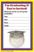 first grade graduation invitation student made