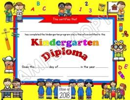 kindergarten diploma editable