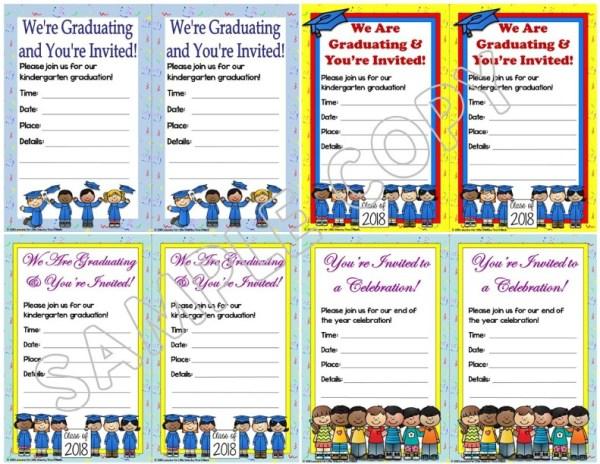 kindergarten graduation invitations