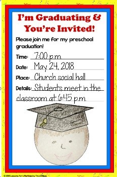 religious graduation invitation student drawn