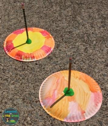 paper plate sundials