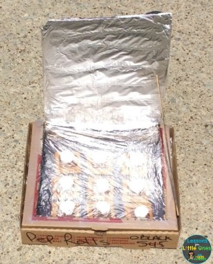 solar oven sun science experiment