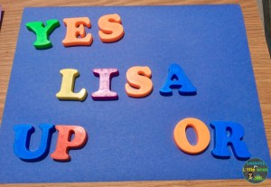 sun prints with magnetic letters