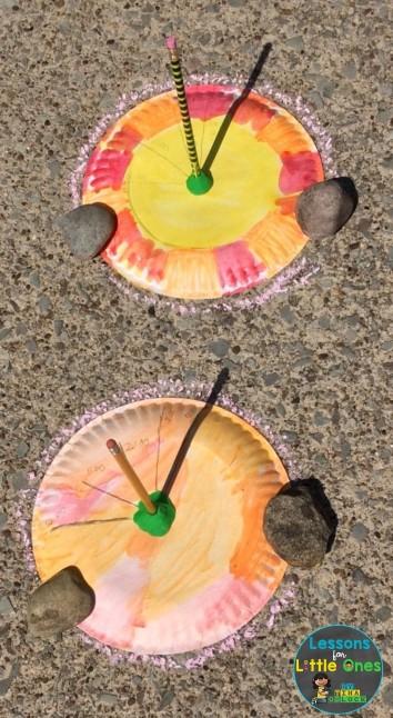 paper plate sundial sun science experiment