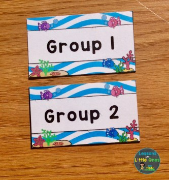 beach theme labels