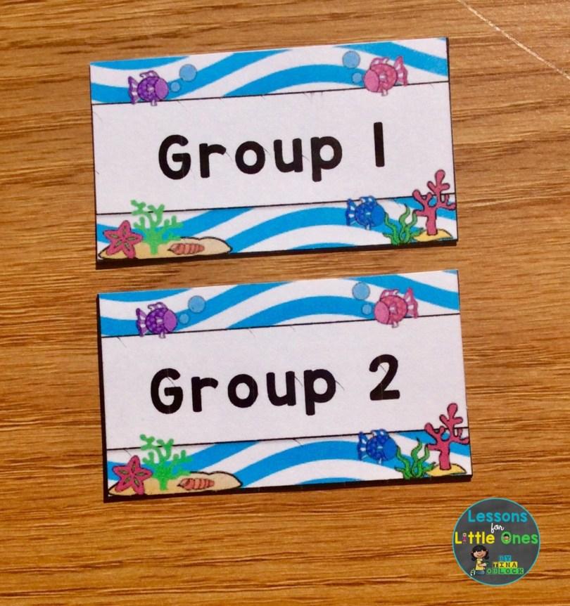 beach theme labels