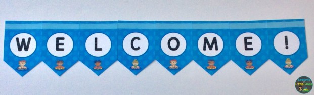 beach theme welcome banner