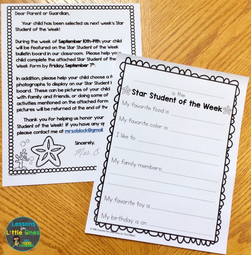 star student of the week beach themed