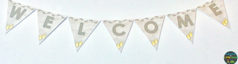 welcome banner beach themed
