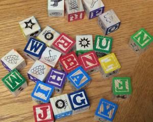 alphabet blocks letters & letter sounds practice