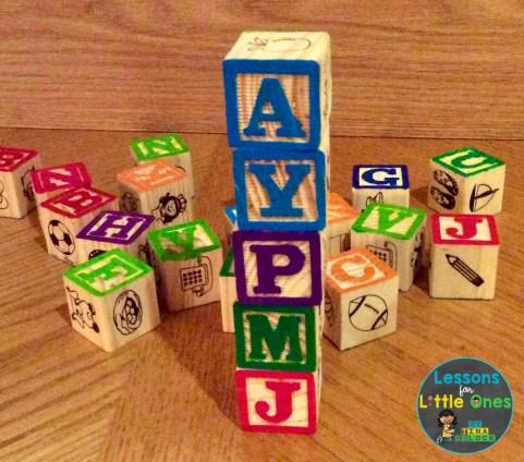 alphabet blocks letter practice