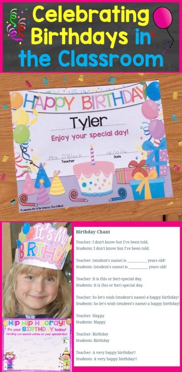 Celebrating Birthdays In The Classroom Student Birthday Ideas