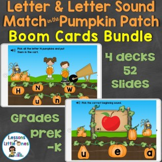 Alphabet Letters & Letter Sounds Match Boom Cards Bundle