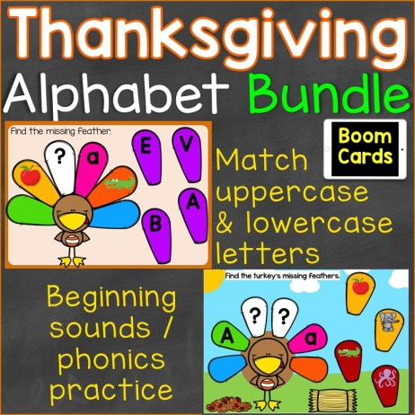 Thanksgiving Alphabet Bundle Boom Cards