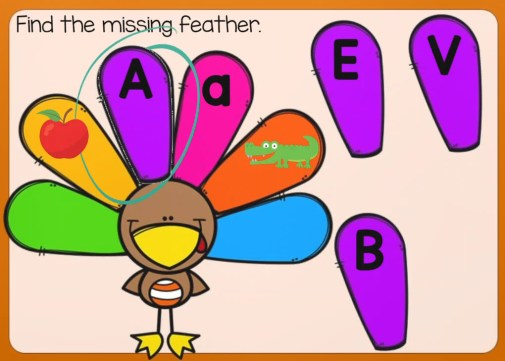 Thanksgiving Alphabet Letters Match Boom Cards