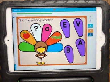 Thanksgiving Alphabet Letters Boom Cards