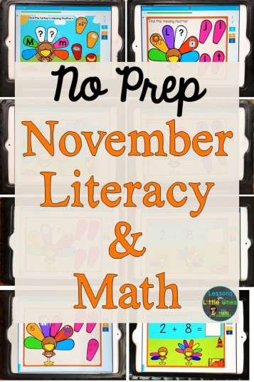 No Prep November Literacy & Math