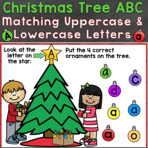Christmas Tree ABC Letters
