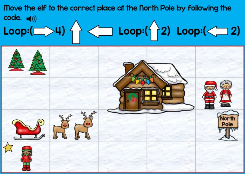 coding practice with loops digital Boom Cards