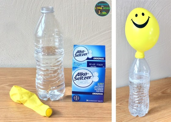 solid liquid gas science experiment alka-seltzer balloon