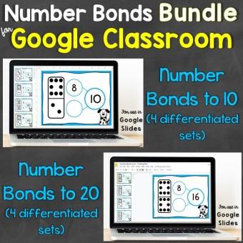 number bonds for google classroom bundle